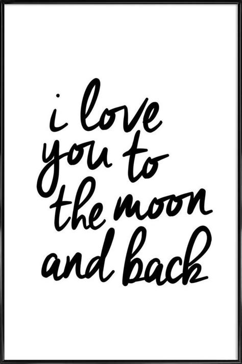 I You To The Moon And Back Kleurplaat by I You To The Moon And Back Als Poster Im