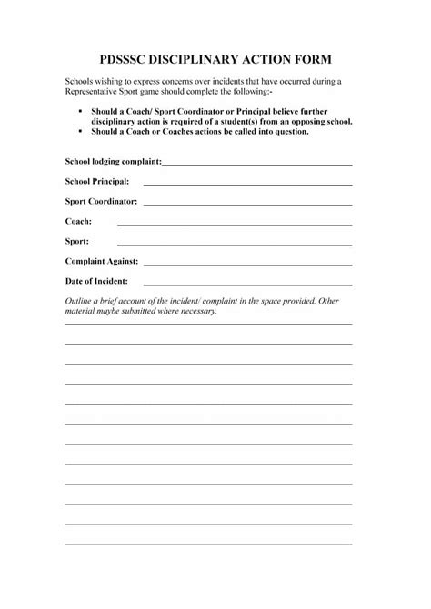 write up template 46 effective employee write up forms disciplinary forms