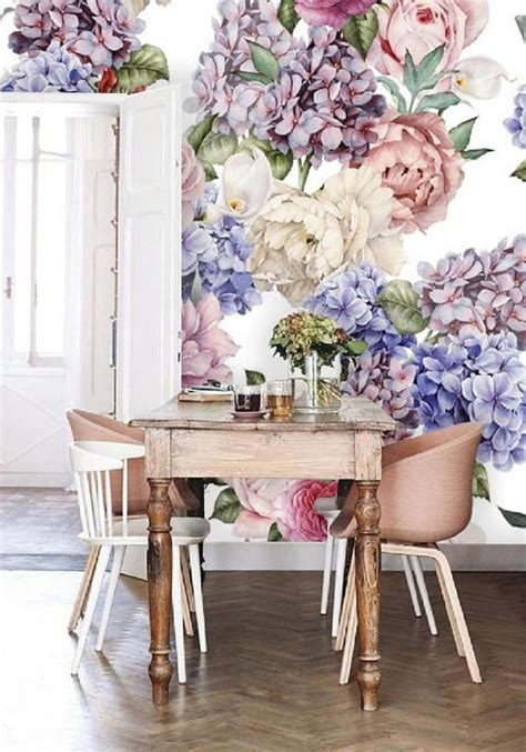removable wallpaper floral wallpaper floral wall mural