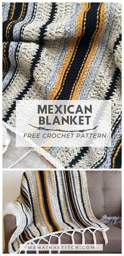 Crochet Pattern Blanket Mexican Serape Afghan