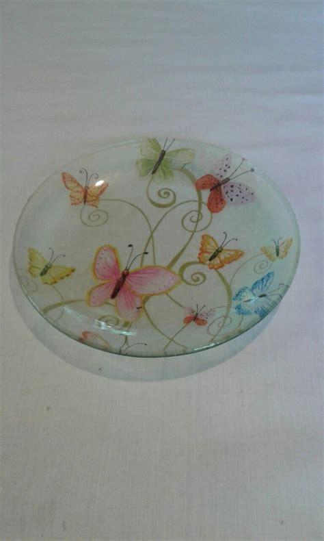 decoupage en vidrio artesaniasbelart platos de vidrio