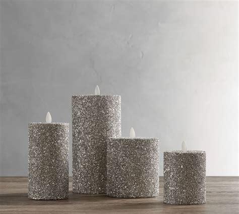 Premium Flicker Flameless German Glitter Pillar Candle