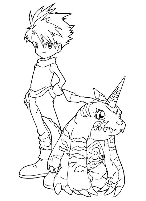 coloring page digimon coloring pages