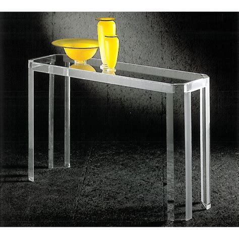 meuble valet de chambre console transparente athena un meuble design en plexiglas