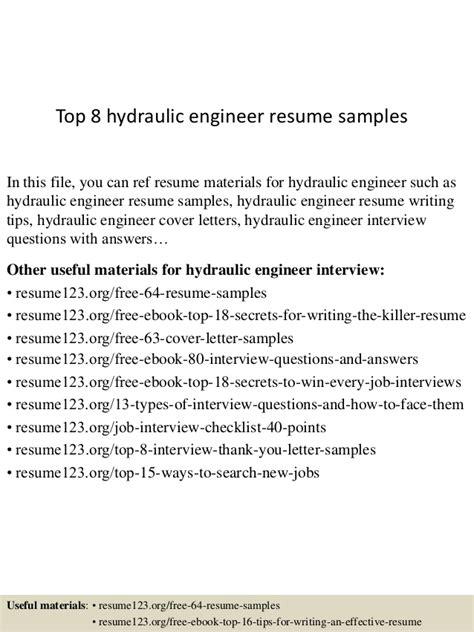 engineer hydraulic resume templatedosecom