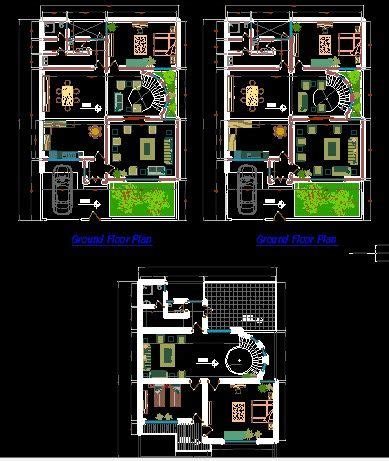modern 2 house plans modern two house ground and floor plans