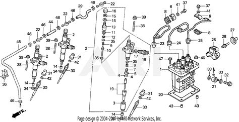 Ford Tractor Injector Diagram by Honda H6522 A2 Compact Tractor Jpn Vin Tzad 1000001 To