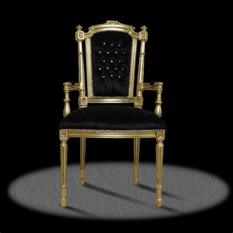barock deluxe moebel barock stuhl extravagant schwarz