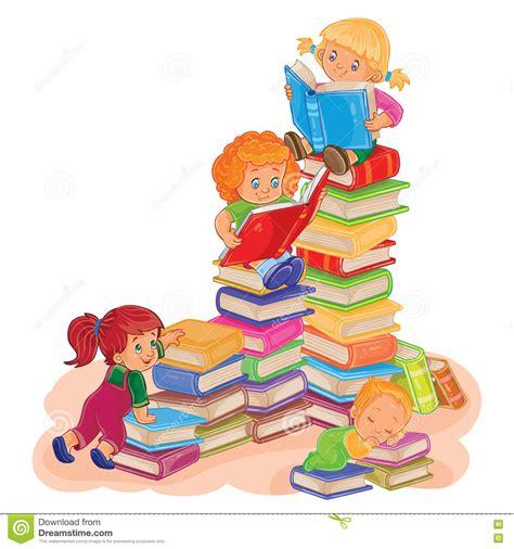 immagini clipart bambini piccoli bambini leggono un libro illustrazione