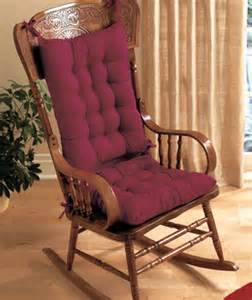 rocking chair cushion set in blue burgundy or hunter green