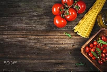 Background Cooking Italian Pasta Ingredients Backdrop Wooden
