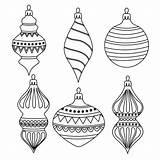 Navidad Colorear Bolas Christmas Outline Coloring Vector Balls Ausmalen Zum Weihnachtskugeln Mano Imprimir Hand Drawn Natal Dibujos Colorir Esferas Gliederung sketch template