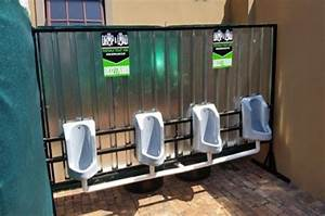 Mens urinal portable toilets trailer toilets for rent and for Portable bathrooms for rent