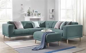 Canapé D Angle Bleu Canard : bobochic canape d 39 angle panoramique avec pouf luna ~ Nature-et-papiers.com Idées de Décoration
