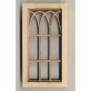 Window - Gothic Arch - 2117 wooden dollhouse miniature 1