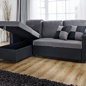 L Shape Sofa Beds by L Shape Sofa With Pull Out Sofa Bed In Black And Grey