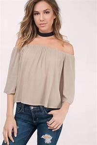 Cute White Blouse - Off Shoulder Blouse