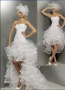 short wedding dress with long train With wedding dress short in front with long train