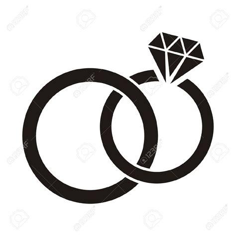 wedding rings clipart black  white