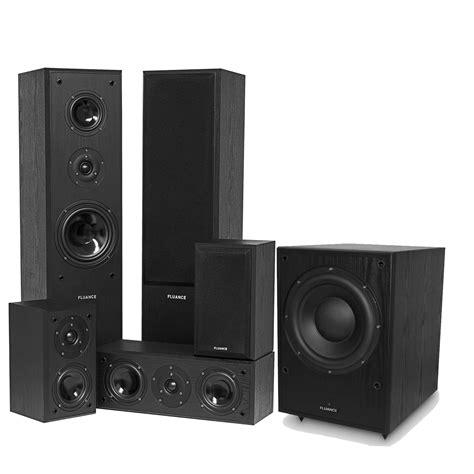surround sound system fluance av series surround sound theater speaker system with powered subwoofer ebay
