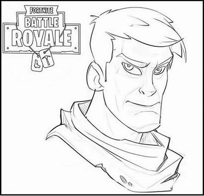 Fortnite Coloring Pages Battle Sheets Bruce Royale