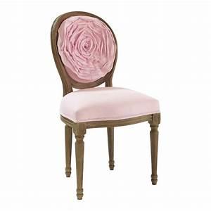 Chaise Cuir Maison Du Monde : chaise lin rose louis maisons du monde ~ Teatrodelosmanantiales.com Idées de Décoration