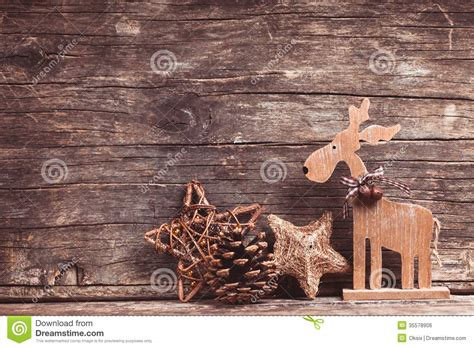natural christmas decor stock photo image  deer retro
