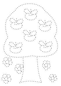 2014 apple tree trace and coloring page for coloring point