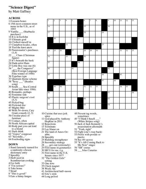 Matt Gaffney's Weekly Crossword Contest: MGWCC #180