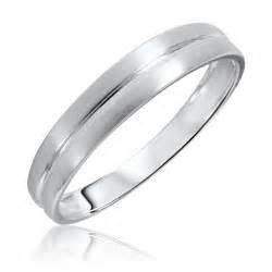 mens white gold wedding bands white gold mens wedding band white gold