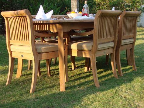 piece outdoor teak patio dining set rectangle table