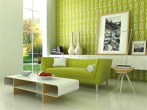 Modern Color Combination For Living Room Green walls