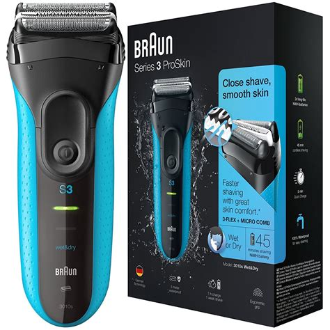 braun series  proskin  mens rechargeable wetdry electric