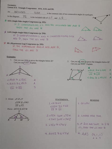 using congruent triangles worksheet answers congruence