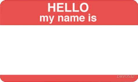 """""""hello My Name Is"""" Stickers By Davo532 Redbubble"""