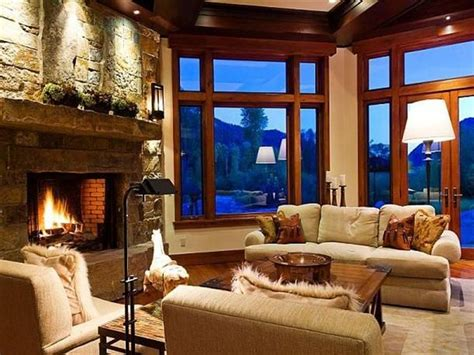 fireplace ranch style home  modern luxury design located  weber canyon ranch style home