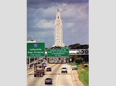 Baton Rouge, LA Baton Rouge Capital view from westbound