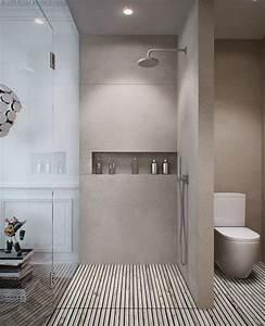 La salle de bain avec douche italienne 53 photos for Salle de bain design avec résine décorative pour sol
