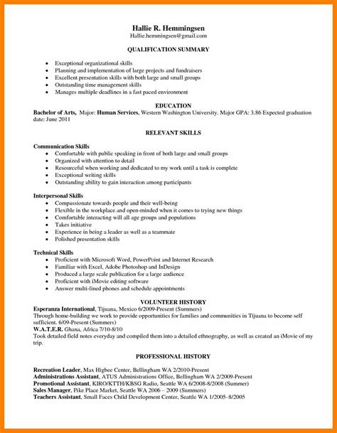 What Is Another Word For Resume by 4 Skill Based Resume Template Word Janitor Resume