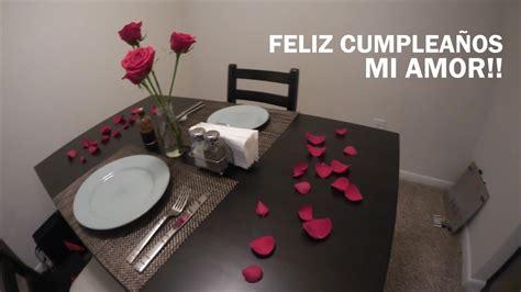 cena romantica en casa youtube