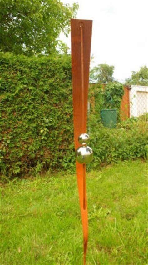 Garten Deko Kugel Rost by Gartendeko Shop Rost Stecker 150cm Mit 2 Kugeln