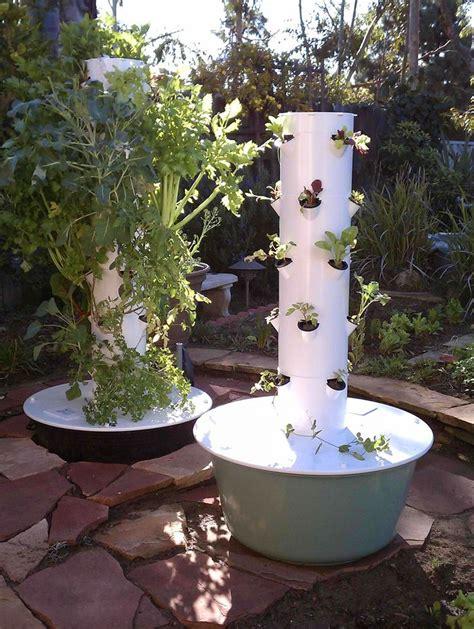 tower garden ideas  pinterest garden tower diy grow tower  hydroponic gardening