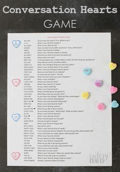 Valentine Conversation Heart Games