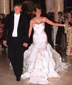 Celebrity wedding dresses sang maestro for Donald trump wife wedding dress