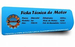 Ficha Ajuste De Motor  Chevrolet Luv 1 6