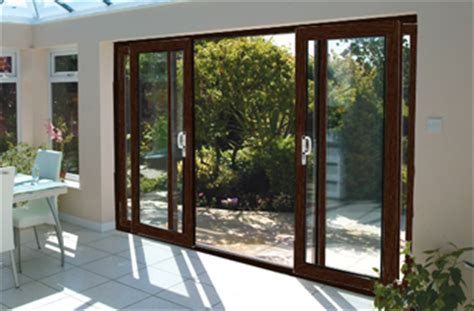 16ft ft rosewood on white upvc pvc sliding patio doors