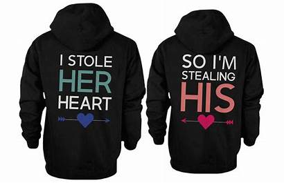 Hoodies Matching Couple Heart Couples Stole Stealing