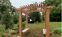building an arbor Training wood project: Popular How to make an arbor for a wedding