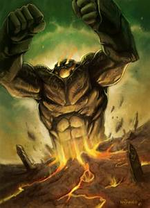 Stone Golem by NathanRosario on DeviantArt