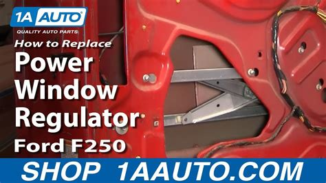 replace window regulator   ford  super duty